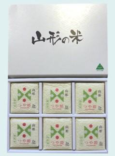 山形県産 無洗米 つや姫6個セット(キューブ米300g×6/化粧箱入り)