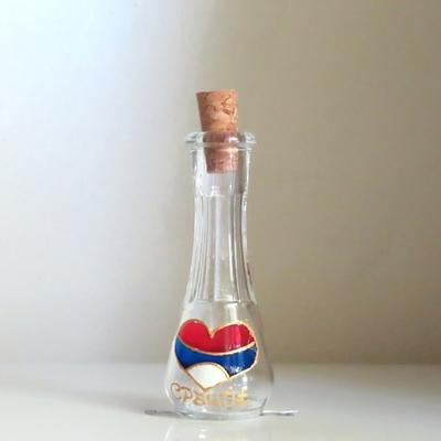 セルビア|ラキヤ用グラス(COKANJ・3色のハート)|30ml
