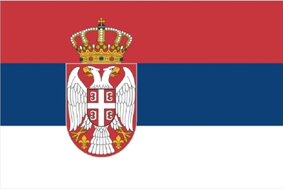 セルビア|セルビア国旗|ポリエステル製|60cm×40cm