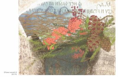 マリヤーナ・アンジェリッチ|ポストカード|FLOWER WREAGH Ⅰ