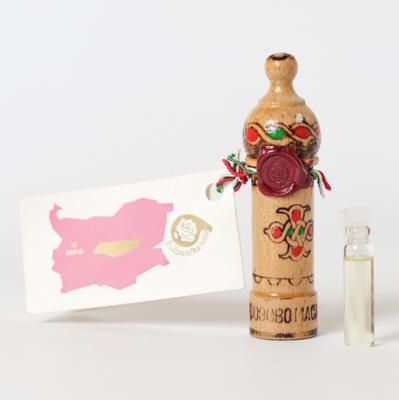 ブルガリア|ダマスクローズオイル|木彫りケース入り|1g