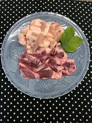ツウが選ぶ焼肉セット 国産カシラ肉200g (冷凍)和牛もつ300g(冷凍)