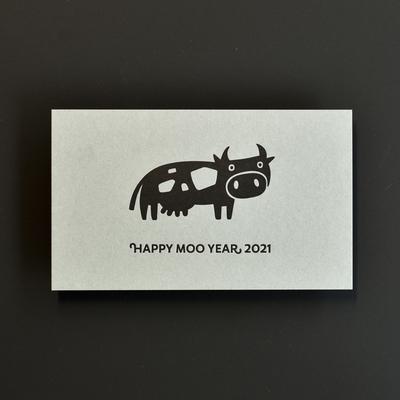活版印刷年賀状2021 COW