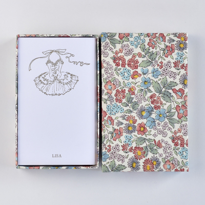 オリジナルメッセージカード/チュチュLove/ホワイト25枚/多彩花柄白箱