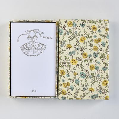 オリジナルメッセージカード/チュチュLove/ホワイト25枚/黄色花柄箱