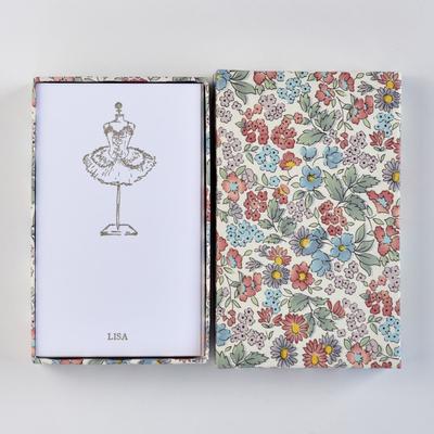 オリジナルメッセージカード/チュチュ/ホワイト25枚/多彩花柄白箱