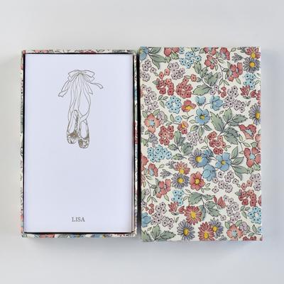 オリジナルメッセージカード/シューズ/ホワイト25枚/多彩花柄白箱