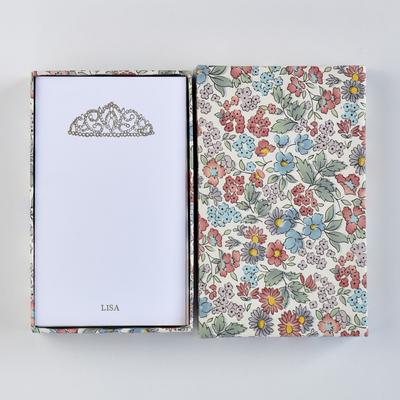 オリジナルメッセージカード/ティアラ/ホワイト25枚/多彩花柄白箱