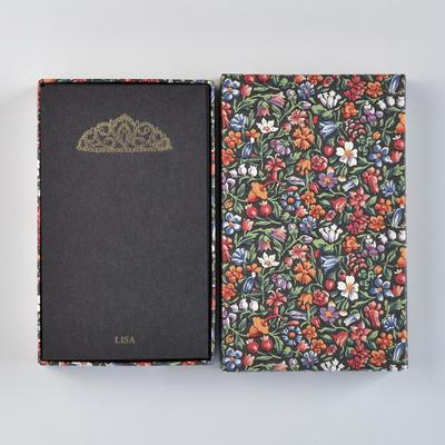 オリジナルメッセージカード/ティアラ/ブラック25枚/多彩花柄黒箱
