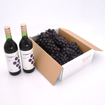 完熟ぶどうスチューベン 約2kg +王将果樹園オリジナル 赤ワイン2本セット
