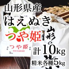 【TH-10】山形県産つや姫5kg&はえぬき5kg