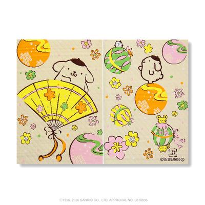 【サンリオキャラクター朱印帳】ポムポムプリン朱印帳 扇 間紙3枚入