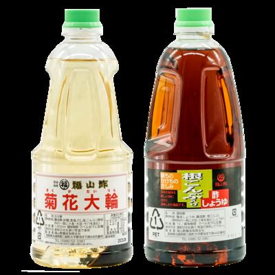 菊花大輪・酢しょうゆ1ℓ2本セット(化粧箱入り)
