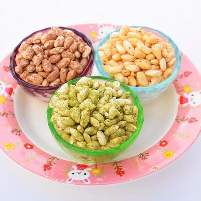 送料無料 ポン菓子お得な3種類セット(抹茶ポン・ココアポン・きな粉ポン)