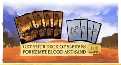 【予約商品】2021年3月以降発送予定 Kemet: Blood and sand カードスリーブ