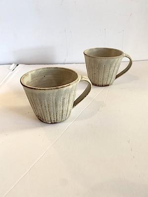 小川麻美 黄粉引しのぎマグカップ