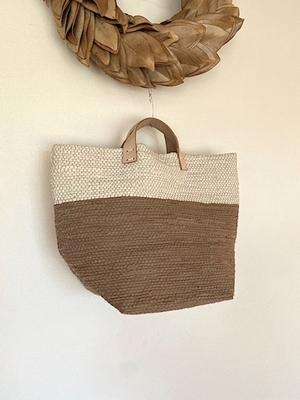 tatetoyoko ベージュ+白 裂き織りbag