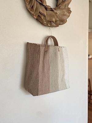 tatetoyoko 5色裂き織りbag
