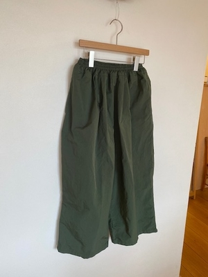 no.4634 GARMENT DYE GOM PANTS green