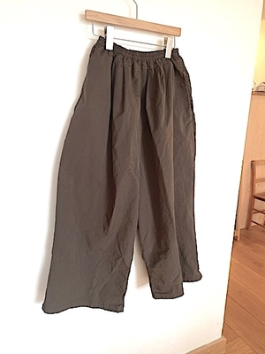 no.4634 GARMENT DYE GOM PANTS dark brown