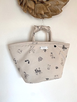 no.4581 B.S PRINT MARCHE BAG (SMALL)