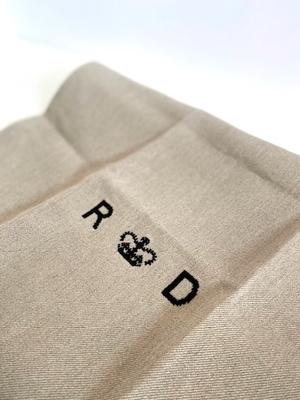 R&D.M.CO-   LINEN DENIM  KITCHEN CLOTH 4色