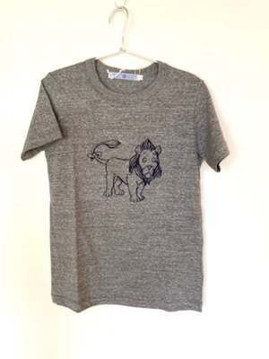 R&D.M.CO-   LIONt-shirt  レディースLサイズ チャコール