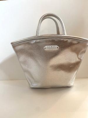 R&D.M.Co- METALLIC MARCHE BAG (SMALL) Silver
