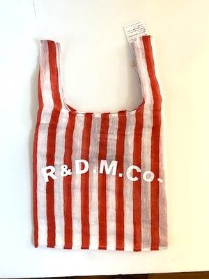再入荷ありです。 R&D.M.Co- STEEL LINEN SUPERMARKET BAG  red