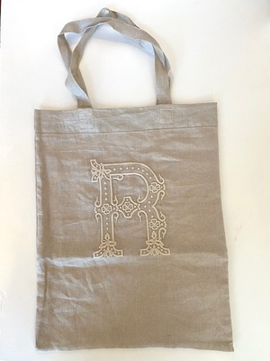 R&D.M.CO-   EMBROIDER BAG    flax