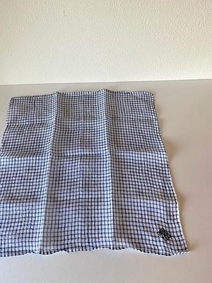 NO.4122 linen handkerchief check