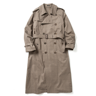 【HOMME】BIG TRENCH COAT -CHECK-
