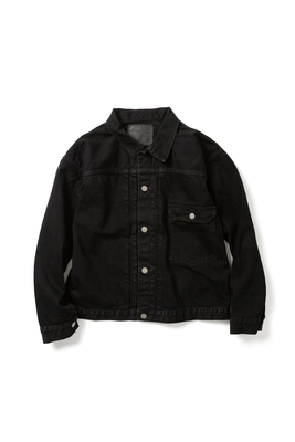 【UNISEX】BRENDA  BIG TRUCKER JACKET -BLACK-