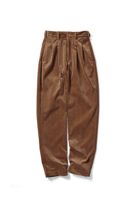 2 TUCK CORDUROY TROUSERS