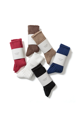 COTTON RIB SOCKS  <SMALL>