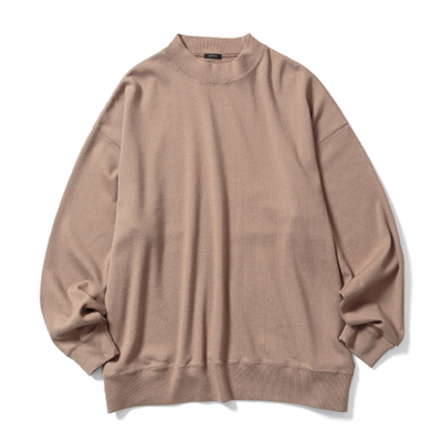 【UNISEX】MOCK NECK LONG T-SHIRT