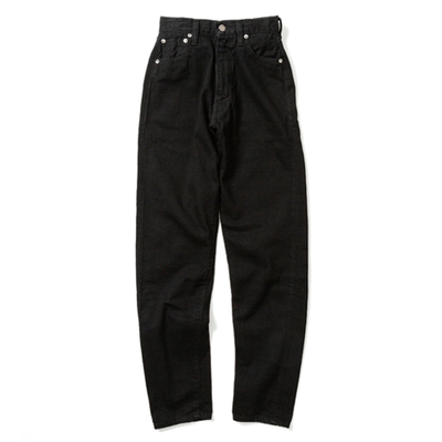 LUCY HIGH WAIST TAPERED JEANS -BLACK-