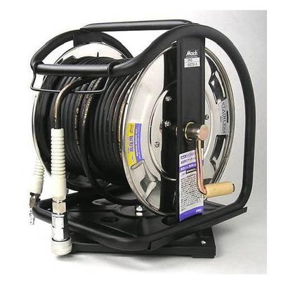マッハ ステンレス製C型高圧エアーホースドラム 回転台付 GHD-630TC-S (805038)