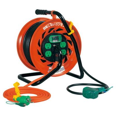 日動工業 電工ドラム RZ-EK30S 温度センサー付 (800940)
