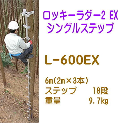 巴化成工業 ロッキーラダー2EX シングルステップ (890541)