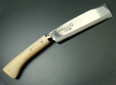 味方屋 鞘鉈 片刃 180mm 磨き (888362)
