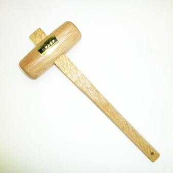 本樫 サンモク 芯付き木槌 36mm (830091)