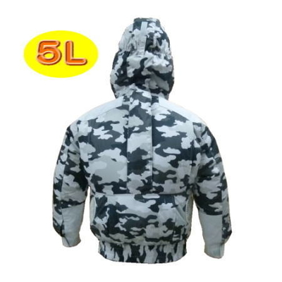 NSP 空調服(迷彩) 5L フード付・補強あり・チタン仕様 (800019)