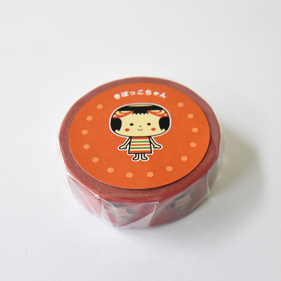 きぼっこちゃんマスキングテープ全2種/赤
