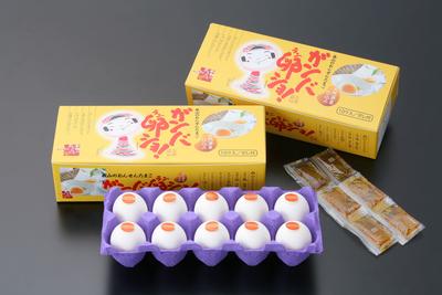 ガンバ卵ショ 10個入り2箱【白玉・温泉たまご】【化粧箱入り】冷蔵便
