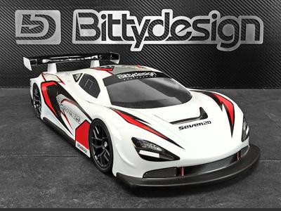 BittyDesign SEVEN20 1/10 GT クリアーボディー 190mm