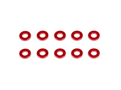 ALUMINUM WASHER 3x6x1.0mm (Red/10pcs)