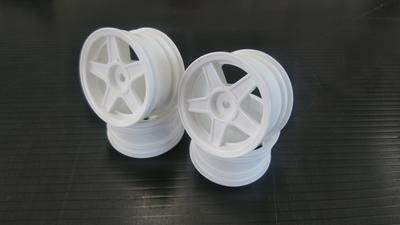ファイブスターホイール 白 Wheel for mini tires (White)  (4PCS)