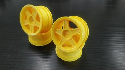 ファイブスターホイール 黄色 Wheel for mini tires (Yellow) (4PCS)