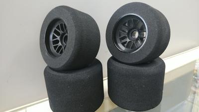 RUSH F1用 スポンジタイヤセット F:Hiラバー R:Lラバー25° 限界突破 限定7セット